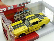 Maisto 31094 1967 Ford Mustang GT 5.0 Gelb Custom Shop 1:24 OVP 1602-27-73