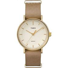 "Timex TW2P98400, ""Fairfield Weekender"" Beige Leather Watch, TW2P984009J"