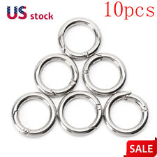 10pcs Key Rings Key Chain Split O-Rings Spring Snap Clip Bag Parts Accessories