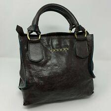 Sundance Catalog Women's Brown Leather Tote Handbag Purse Satchel Made in Italy