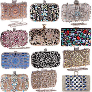 Wedding Clutch Crystal Jewelry Evening Handbags Bling Sparkling Party Purse Bags