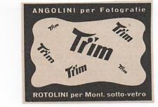Pubblicità epoca PELLICOLE ROTOLINI TIM FOTO advert reklame werbung publicitè