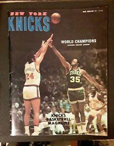 1973-74 World Champions NEW YORK KNICKS Magazine. BILL BRADLEY
