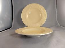 "Set of 2 Villeroy & Boch Piemont Estivo (Yellow) 10"" Rim Soup Pasta Bowls"