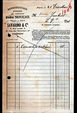 "AVIGNON (84) MENUISERIE / MEUBLES PROVENCAUX ""SAVARINO & Cie"" en 1935"