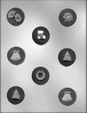 """Christmas Mint Assortment #2 - 1-5/8"""" Candy Mold CK  #4126 New"""