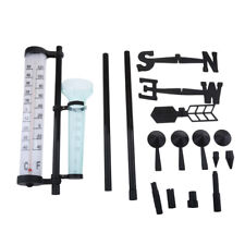 Outdoor Weather Station Kit Rain Gauge Thermometers,Wind Indicator