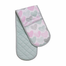 Lola Pattern Double Oven Glove Pink Hand Mitt Chef New Cooking Cotton New