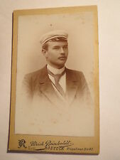 Rostock - Tübingen 1898/99 - Wingolf - Hermann Voß als Student - CDV/ Studentika