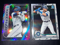 2020 BOWMAN CHROME KYLE LEWIS LOT RC Rookie & Prizm ROY Fav. Refractor Mariners