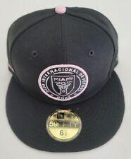 Inter Miami CF New Era MLS Team Logo 9TWENTY Black/Pink 6-7/8 Snap Back Hat Cap