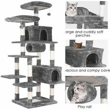 New listing 80'' Multi-Level Cat Tree Activity Center Playing Condo Tower For Rest & Sleep