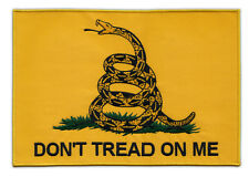 Motorcycle Jacket Embroidered Patch (Back Patch) - Don't Tread On Me Flag