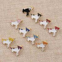 Women Dog Earrings Animal Alloy White Pendant Ear Stud Charm Girl Jewelry Decor