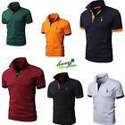 New Mens Slim Fit Short Sleeve Polo Shirt Tops Stylish Designed Casual T-shirts