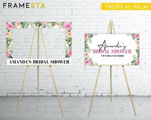 Bridal Shower Banner Photo Booth Frame + Bonus Welcome Sign