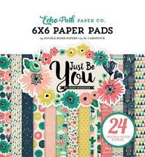 Echo Park JUST BE YOU 6x6 Paper Pad 24pc Floral Dream Journey Scrapbook Planner