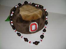 """Ohio State- All Bead Buckeye Necklace - Large! 1"""" Buckeye!"""
