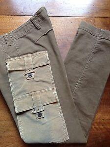 Vintage Designer Mens ETIENNE OZEKI 'CORDUROY CARGO' Jeans Size W31 L34 RRP $495