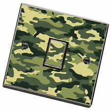 Green Army Camouflage Light Switch Cover,Skin,Sticker.Decal Any Room