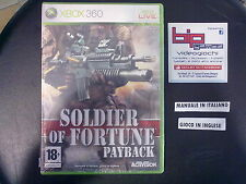 SOLDIER OF FORTUNE PAYBACK XBOX 360 PAL NUOVO SIGILLATO