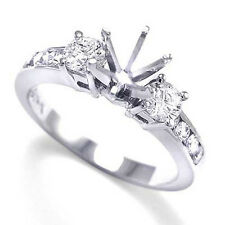 Diamond Engagement Ring Semi-Mount in Platinum 950 Sizes 4 to 9.5 #R1188 G-SI1