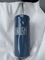 Rae Dunn Brush Toilet Brush And Holder Blue Ceramic New With Tags
