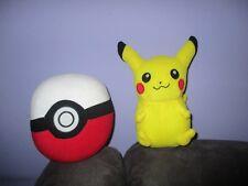 Pokemon's PIKACHU & large POKEBALL  soft plush toys