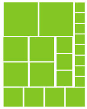 42 LIME GREESN QUARE VINYL WALL DECALS STICKERS GIRL BEDROOM Teen Baby Dorm