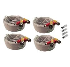 (4) x 60ft BNC Cable for Swann / Lorex / Q-See SDI & HD Security CCTV Cameras