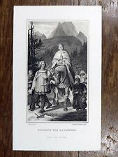 Éd. Schuler d'ap. Rethel - Rudolph von Habsburg - Maison de Habsbourg RODOLPHE 1