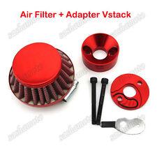 Red Air Filter Adapter Vstack For Big Foot Goped Blade Z Gas Scooter Pocket Bike