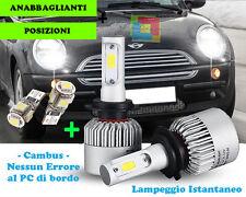 LAMPADE ANABBAGLIANTI LED + POSIZIONI T10 PER MINI COOPER R50 R53 01-06 CREE
