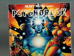 Heavy Metal PsychoRock #1 (1977) 1st Print by Macedo Hard to Find in High Grade