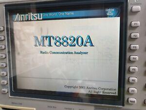 ANRITSU MT8820A RADIO COMMUNICATION ANALYSER 30MHZ - 2.7GHZ W/ MX882050A / MX882