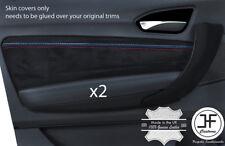 REAL SUEDE M CUCITURA 2X Scheda Porta anteriore Trim Copertura per BMW serie 1 F20 F21 11-17