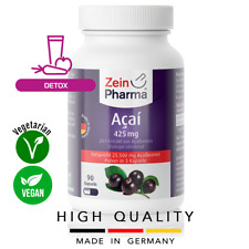Açaí 425 mg (90 capsules) Detox Lose Weight Energy Anxiety ZEINPHARMA