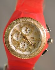New Womens Technomarine 115246 Jellyfish Diamond Chrono MOP Dial Silicone Watch