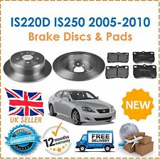 For Lexus IS220D IS250 2005-2010 2 Rear Solid Brake Disc & Brake Pads New