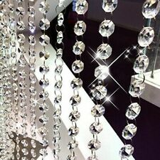 1M Clear Crystal Chandelier Lamp Parts Beads Chain Party DIY Wedding Decoration
