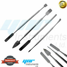 YNR Metal Spatula 4 Piece Set Tools Dental Carver Wax Surgical - New Stainless S
