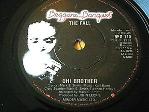 """THE FALL - OH BROTHER  7"""" VINYL"""