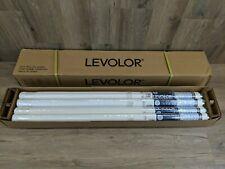 "Set of 12 Levolor 37 1/4"" x 78"" Super Blackout Vinyl Roller Shade White (#173)"