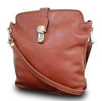 Made In Italy Luxus Damen Schultertasche Clutch Crossbody Bag Echt Nappa Leder