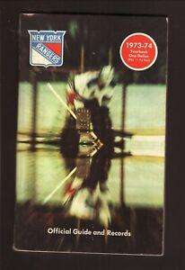 New York Rangers--1973-74 Yearbook