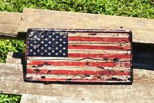 Decorative Novelty License Plate Tin Sign - Us Flag - Old Glory - American - Usa