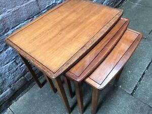 Mid Century Modern/Vintage/Retro Nest of 3 Tables Interior/Furniture/Teak MCM