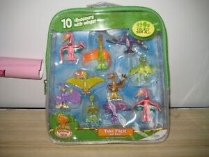 RARE DINOSAUR TRAIN -TAKE FLIGHT GIFT PACK WITH 10 DINOSAURS WITH WINGS-NEW