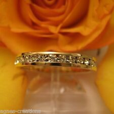 AGNES CREATIONS / BAGUE FEMME ALLIANCE  PL-OR 14 K ZIRCONIUM TAILLE 50