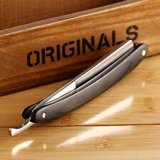 Classic Men Folding Steel Straight Edge Wood Handle Barber Razor Shaving Knife